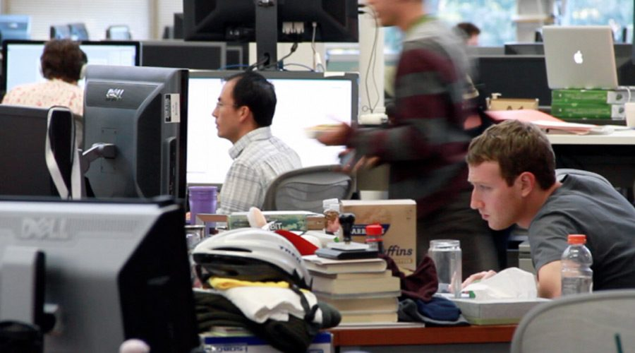 Mark Zuckerberg desk