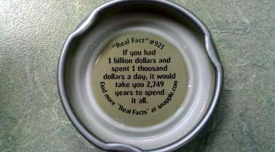 Snapple facts billion dollars