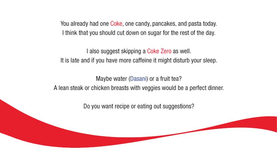 Coca Cola AI nutrition advice