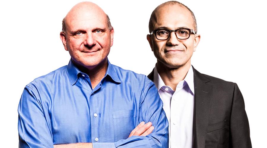 Steve Ballmer Satya Nadella Microsoft