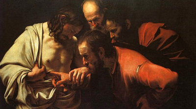 The Incredulity of Saint Thomas Caravaggio)