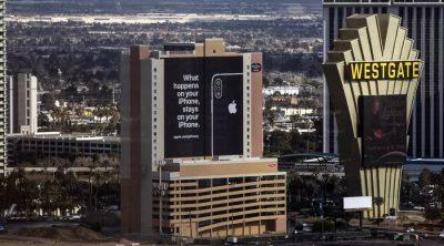 Apple Las Vegas ad privacy